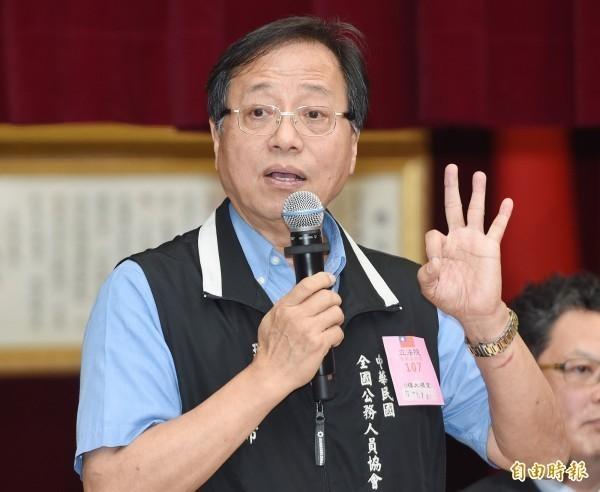 李來希辭退撫基金監理委員會委員,不忘砲轟國民黨主席吳敦義也應立刻辭職。(資料照)