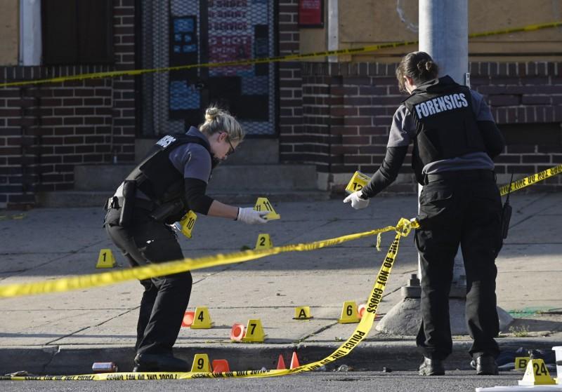 美國馬里蘭州巴爾的摩傳一日8起槍擊。圖為巴爾的摩警方示意圖。(美聯社)