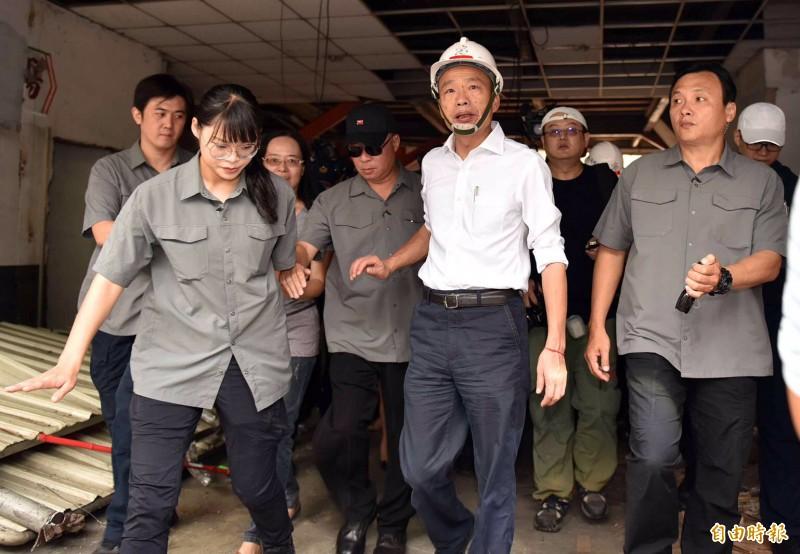 總統大選結束韓國瑜慘敗,回到高雄市政府繼續當市長,傳有官警積極示好,爭取當市長隨扈。(記者黃良傑攝)
