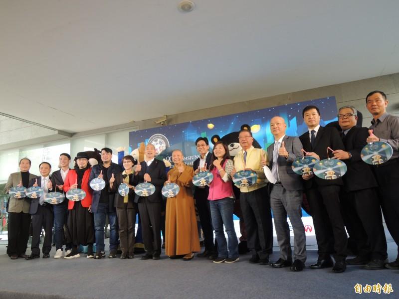 高雄市長韓國瑜今主持2020高雄燈會藝術節宣傳活動。(記者王榮祥攝)