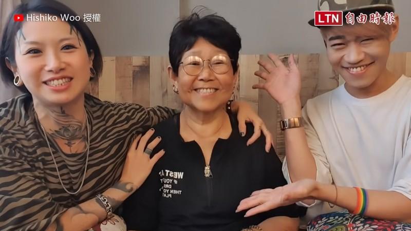 同志家庭媽媽與孩子的對話,引起許多網友感動迴響。(Hishiko Woo 授權)