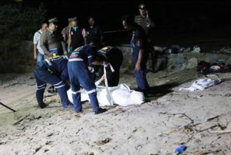 泰國東部的班普拉(Bangpra)海灘日前發現一口行李箱內裝著中國女子屍體,警方循線查出,疑似為死者的台灣籍丈夫行兇。(圖擷自網路)