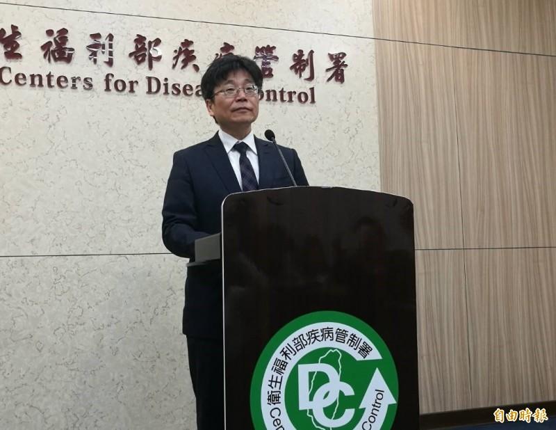衛福部疾管署署長周志浩說明2019新型冠狀病毒最新情形。(記者林惠琴攝)