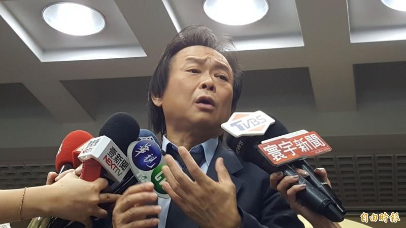 王世堅說,去年他對韓國瑜備極呵護、字斟句酌,不敢對他疾言厲色,就是為了黨和總統蔡英文!(資料照)
