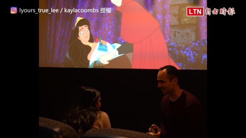 國外一名導演位女友策劃了一個「如童話一般」的求婚。(圖片由Instagram帳號yours_true_lee及kaylacoombs授權提供)