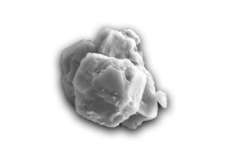 科學家於隕石中發現迄今地球上最古老的物質。圖為其中一個星塵微粒的電子顯微影像,其直徑約8微米,誕生於70億年前。(法新社)