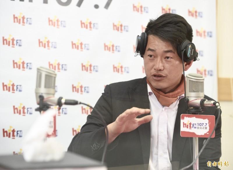 台灣基進立委當選人陳柏惟上節目暢談政治理念,也透露與女友婚姻進度。(記者羅沛德攝)