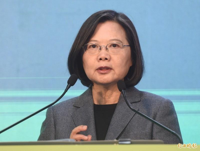 剛當選連任的總統蔡英文最近接受《英國廣播公司》(BBC)專訪,她呼籲中國面對事實,尊重台灣,台灣已經是一個獨立的國家,並說願意與中國對話,但台灣的主權沒有談判的空間。(資料照)