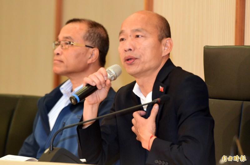 韓國瑜敗選後仍然面臨遭罷免危機,朱學恆認為,現在的國民黨可能比民進黨更希望罷韓成功。(資料照)