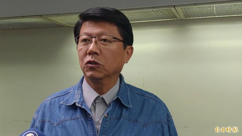 謝龍介說,「如果大陸的朋友交流這麼久,台灣的前途要由全體中國人決定的話,這是不了解我們的心。」(記者蔡文居攝)