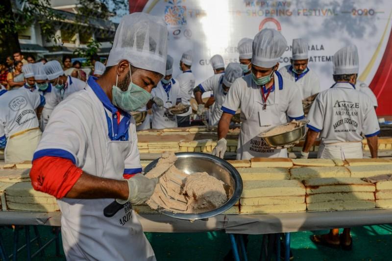 喀拉拉邦烘焙協會欲經由這次紀錄,向全球展示他們的烘焙實力。(法新社)