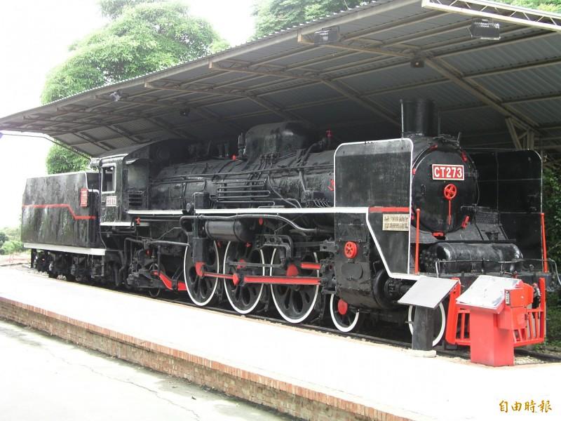 原矗立台灣民俗村園區的台鐵國寶級CT273蒸汽火車頭已歸還給台鐵。(資料照,記者湯世名攝)