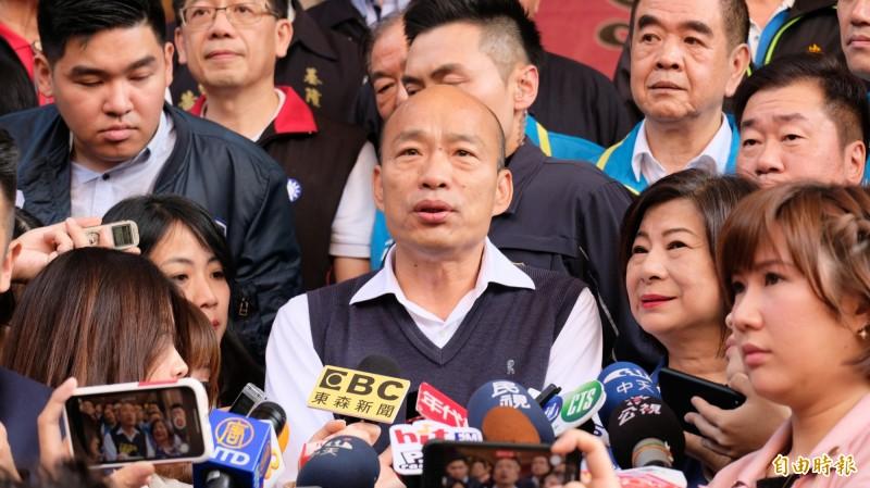 高雄市長韓國瑜2020大選落敗,隨之而來要面對的是選前就發起的「罷免」一事。(資料照)