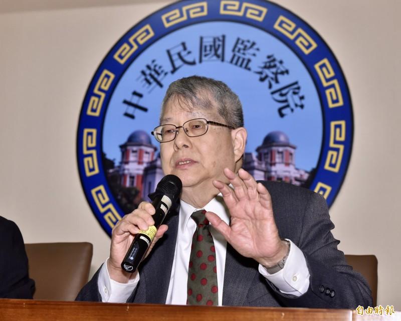 陳師孟請辭獲准 監委高涌誠接手、將先約詢憲法學者