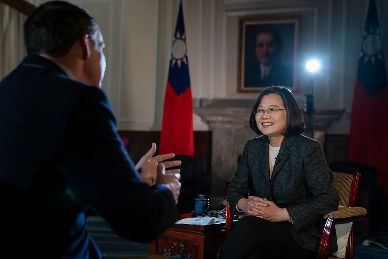 總統府今晚公布蔡總統日前接受「英國廣播公司」(BBC)專訪全文,蔡英文說,她想讓這個地方更民主,在經濟方面更具競爭力,「最終將使台灣成為亞洲最進步的國家」。(圖擷自總統府官網)