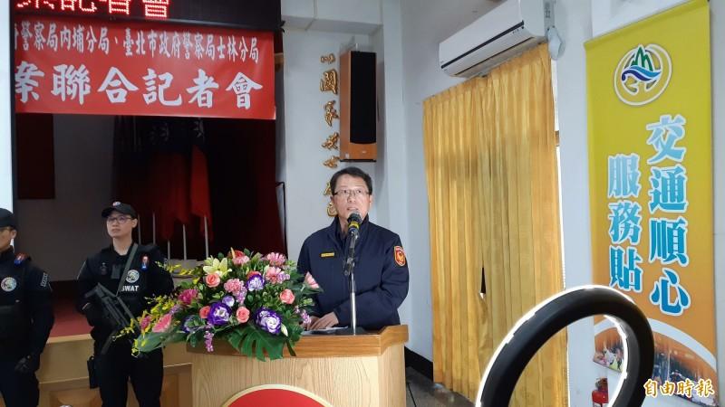 台東警分局長郭子宏說明緝毒過程。(記者黃明堂攝)