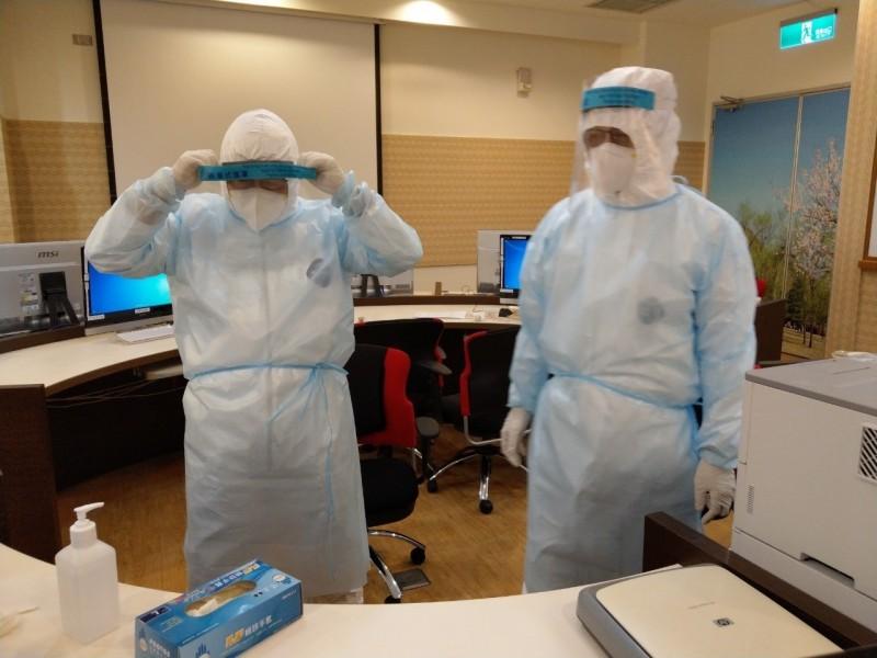 武漢肺炎侵台,彰化縣各醫院都完成感控防護演練。(彰化縣衛生局提供)