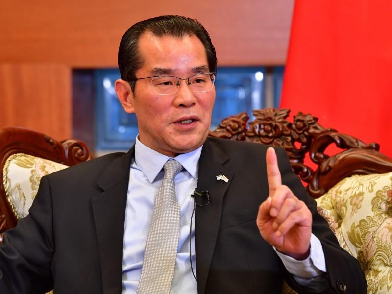 中國駐瑞典大使桂從友。(法新社)