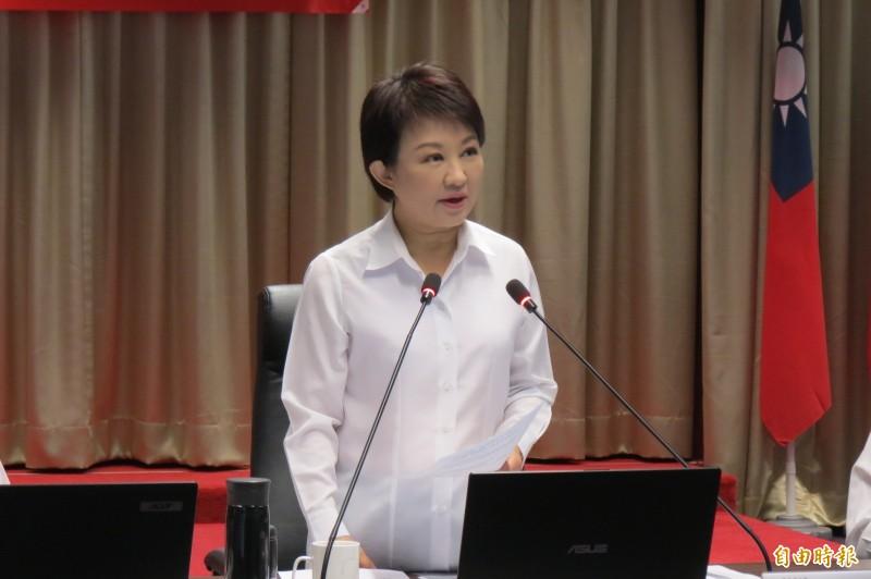 台灣有武漢肺炎確診中市今率先開設二級指揮中心,盧秀燕指防疫如作戰。(記者蘇孟娟攝)