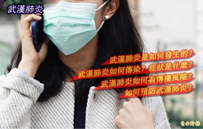中國武漢2019新型冠狀病毒(COVID-19)肺炎確診病例持續攀升,全球已造成逾1000人死亡。為讓民眾更加了解此病毒,本報整理懶人包資訊。(本報合成)