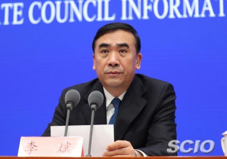 中國國家衛生健康委員會副主任李斌就武漢肺炎疫情發表對外談話。(圖擷自中國國務院新聞辦公室網站)