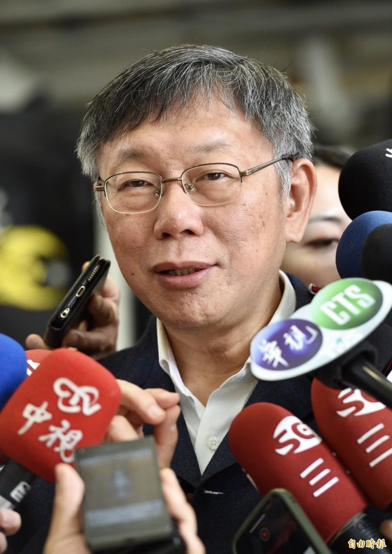 第十屆立法院長熱門人選游錫堃約好今晚拜訪台灣民眾黨主席柯文哲,柯文哲表示「禮尚往來,這樣就好了。」(記者羅沛德攝)