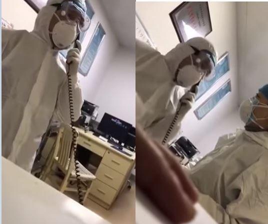中國武漢2019新型冠狀病毒(2019-nCov)肺炎確診病例持續攀升,至少800例確診、26人死亡,武漢當地的醫院到處都是病人,有網友貼出一段疑似武漢第一線醫生崩潰打電話不斷飆罵的影片,影片曝光後也引發網友熱議。(圖擷取自YouTube)