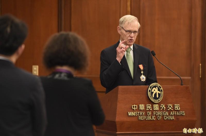卜睿哲認為,北京的政治操作對台灣或許「不是件壞事」,因為這可讓世界看清北京是個什麼樣的政府。(資料照)
