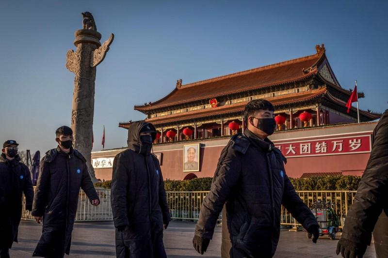 為遏止武漢肺炎進一步擴散,北京多處景點宣布暫時關閉,春節活動取消。(法新社)