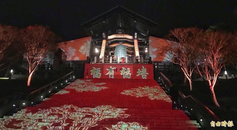 今年法鼓山還將首度採用光雕投影彩繪法華鐘樓,帶領大眾進入《法華經》的世界,共同聽聞佛陀絕妙法語。 (記者劉信德攝)