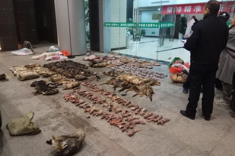 武漢肺炎疫情擴增,專家呼籲禁止野生動物貿易市場。(美聯社)