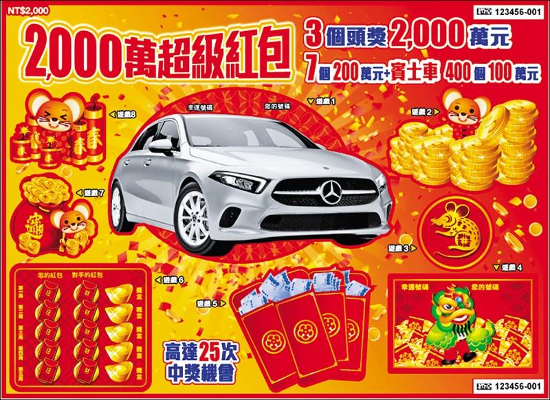 「小賢」阿公聽金孫的話買了這張「有車車」的刮刮樂,刮中一百萬元大獎。 (來富商行提供)