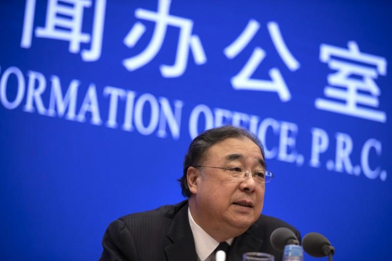 中國國務院新聞辦公室今召開記者會,由中國衛健委主任馬曉偉說明疫情。(美聯社)