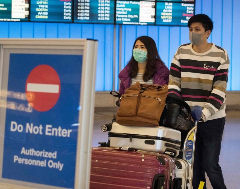 武漢肺炎美國確診5例,患者都曾前往中國武漢。(法新社)