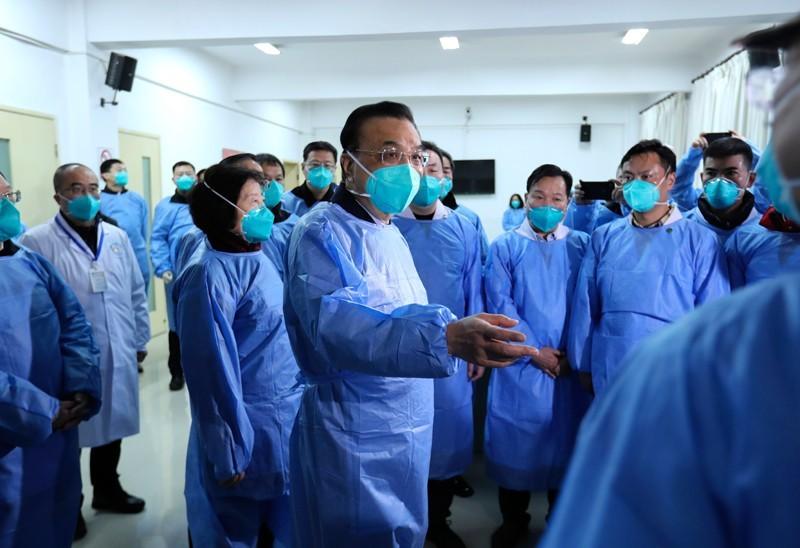 中國國務院總理李克強今日抵達武漢,視察前線防疫工作。(照片取自中國政府網站)