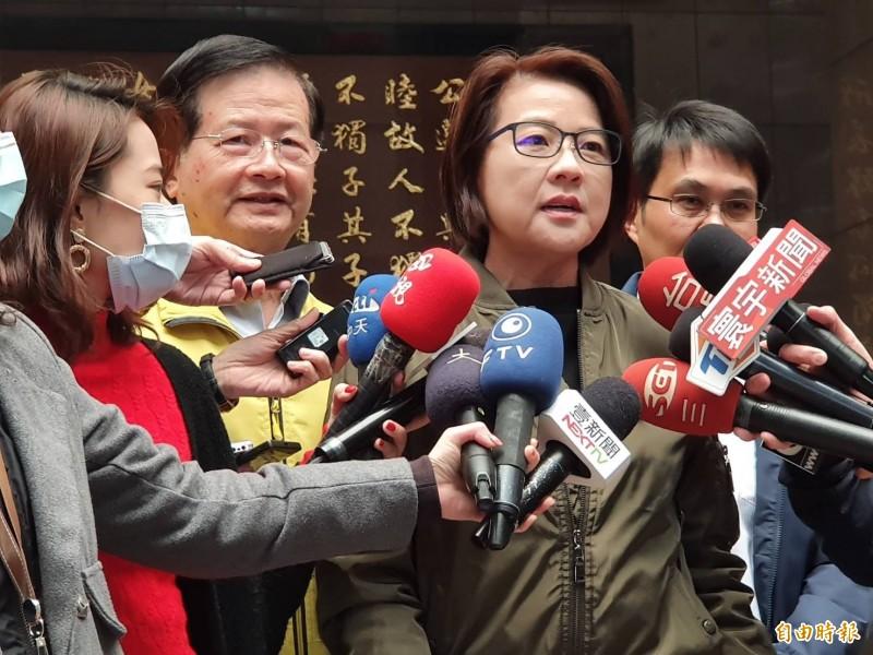 台北市副市長黃珊珊上午接受媒體訪問。(記者楊心慧攝)