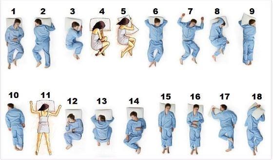 推特網友艾倫·貝爾(Allan Bell)分享18種睡姿的照片,短短不到10天,已有接近1萬3500個讚,並有約1500次轉發。(圖擷取自Allan Bell推特)