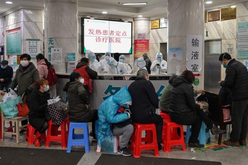 中國武漢肺炎疫情持續延燒,據稱目前中國境內確診病例已逾4500例、破百例死亡。示意圖。(法新社)