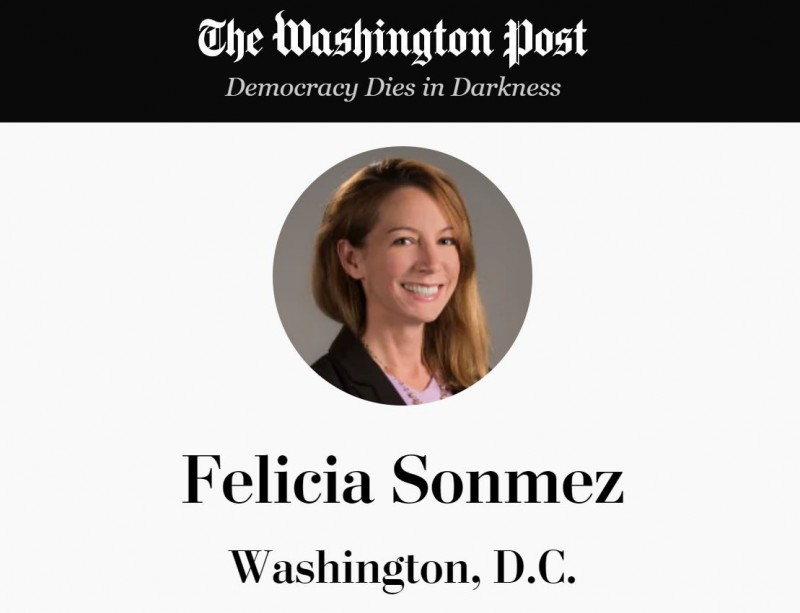 美國《華郵》記者桑梅茲轉貼布萊恩過往遭指控性侵的文章,遭死亡威脅刪文後又被停職,引起同事譁然,透過工會發函抗議報社處置不當。(圖取自《華郵》官網)