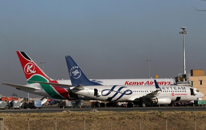 肯亞航空宣布週五起停飛中國廣州及曼谷之間的往來航班,尚無復飛日期。(路透資料照)