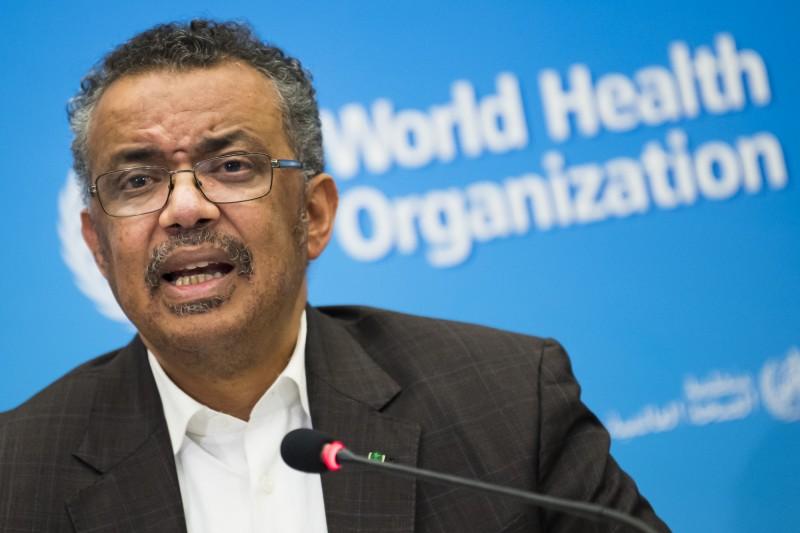 世界衛生組織(WHO)秘書長譚德塞在日內瓦後再次召開會議後,31日終於宣布將新型冠狀病毒疫情提升為「國際公共衛生緊急事件」。(美聯社)