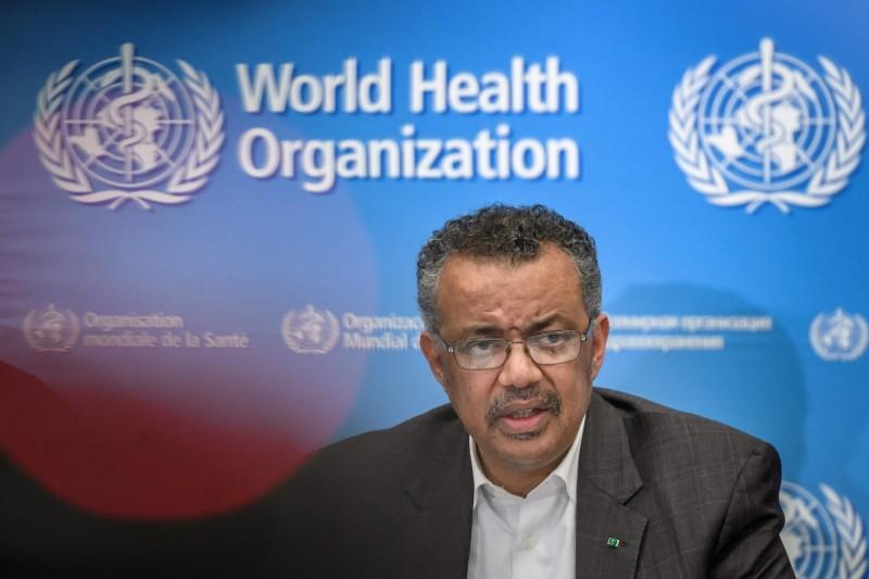 世界衛生組織布新型冠狀病毒為「國際公共衛生緊急事件」,卻強調不該限制對中交流,被各國網友罵翻。(WHO)(法新社)