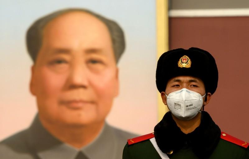紐時報導,武漢肺炎使全球反中情緒與恐慌隨疫情迅速蔓延。圖為北京天安門前景象。(法新社)