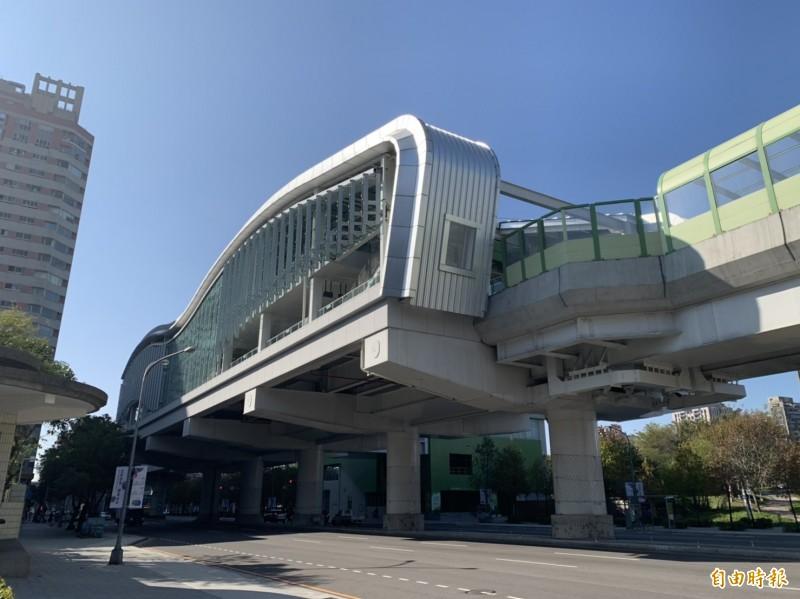 台中捷運文心森林公園站原本要開放民眾參觀,但受到武漢肺炎疫情影響,市府決定先暫緩。(記者唐在馨攝)