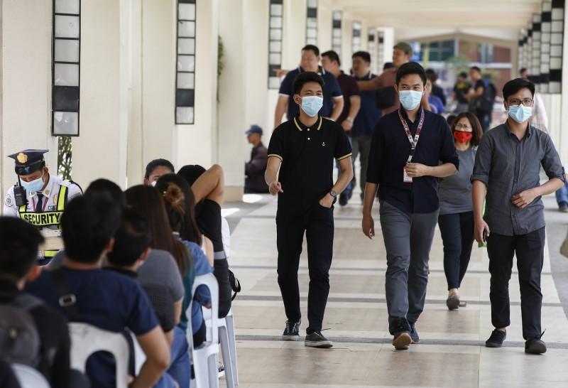 菲律賓出現中過境外首例死亡病例。(歐新社)