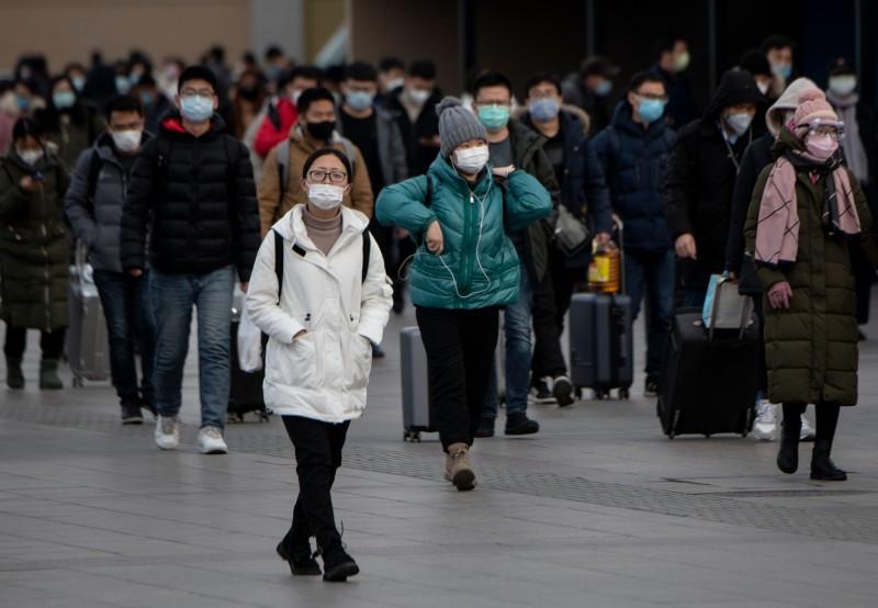 武漢肺炎疫情在中國延燒。(法新社)