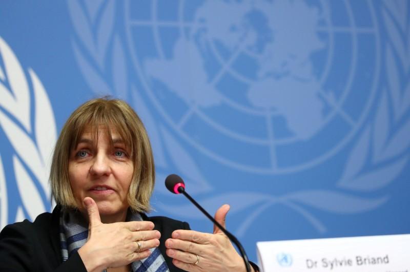 WHO全球傳染病防範部門主管布里安(Sylvie Briand)週二在日內瓦表示,新型冠狀病毒的疫情尚未構成「大流行」(pandemic)。(路透)