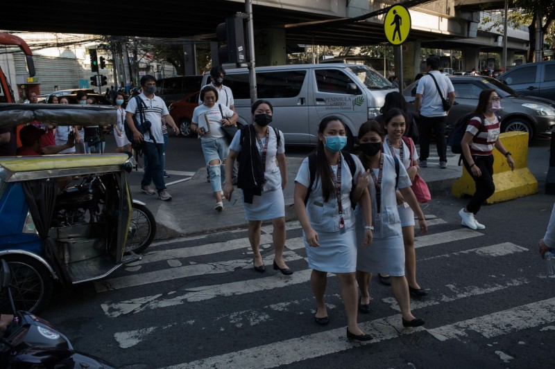 菲律賓今宣布,確診國內第3起武漢肺炎病例,該名個案是名6旬中國武漢婦女。(彭博)