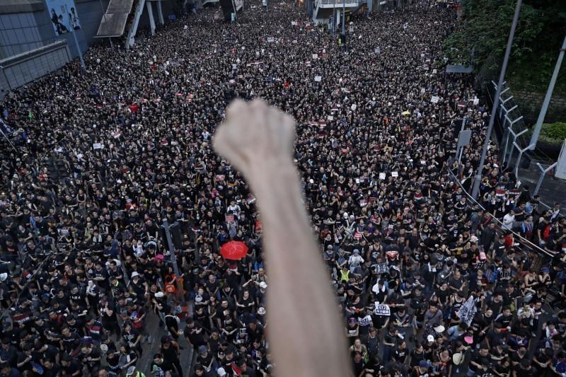 美國多名國會議員4日共同發布聲明,提名「香港民主運動」抗爭者角逐2020年的諾貝爾和平獎。(美聯社)