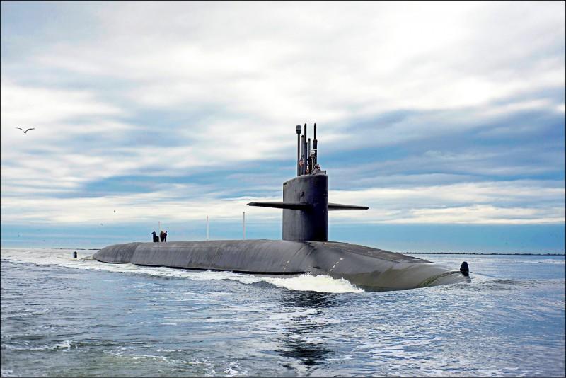美核潛艦「田納西號」。(路透檔案照)